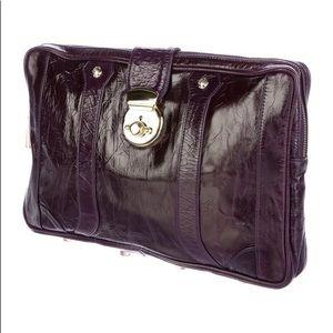Rebecca Minkoff Large LEATHER Clutch/laptop bag